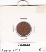ISLANDA   1 EYRIR   ANNO 1931  COME DA FOTO - Islanda