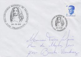 Enveloppe (1988-09-24, 6190 Trazegnies) - Marquis De Trazegnies - PL - Poststempels/ Marcofilie