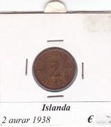 ISLANDA   2 AURAR   ANNO 1938  COME DA FOTO - Islanda