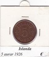 ISLANDA   5 AURAR   ANNO 1926  COME DA FOTO - Islanda