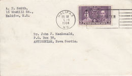 Canada Cover 1964 Franked With Newfoundland Scott #232 5c George VI Coronation - 1952-.... Règne D'Elizabeth II