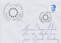 Enveloppe (1989-06-03, Bruxelles 1000 Brussel) - Elections Européennes - PL - Poststempels/ Marcofilie