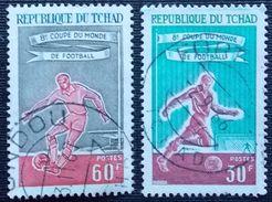 TCHAD : 127 - 128 . 8e COUPE DU MONDE DE FOOTBALL - Chad (1960-...)