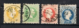 1867 -1874  PERFORATE 9 SCOTT#27-30 VALUE CATALOGUE € 250 - Oriente Austriaco