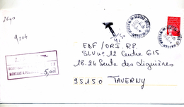 Lettre Taxee Cachet Paris - Postmark Collection (Covers)