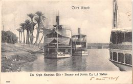 ¤¤  - 7625  -  EGYPTE   -   LE CAIRE   - The Anglo American Nile  -  Steamer And Hotel C.Y. L.D. Station  - Oblitération - Cairo