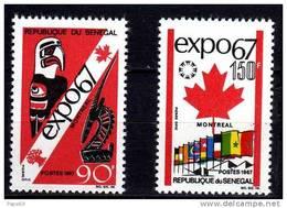 Sénégal N° 295 / 96 XX  Exposition Internationale De Montréal La Paire TB - Senegal (1960-...)