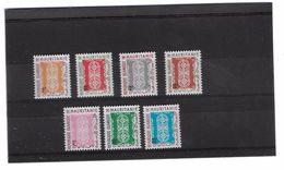 EDY275 - MAURITANIA , Sette Valori Diversi  ***  MNH  SEGNATASSE - Mauritania (1960-...)