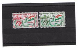 EDY277 - NIGER , Due Valori Diversi  ***  MNH  Posta Aerea - Niger (1960-...)
