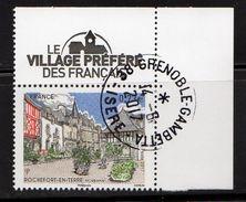 France 2017.Rochefort-En-Terre (Morbihan)Le Village Préféré Des Français.Cachet Rond Gomme D'origine. - France