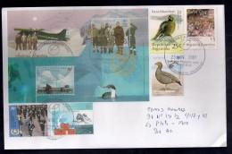 Argentina Sobre Circulado Con Bloque Bloque Antartida Y Otros 2007  (circulo Filatelico La Plata) - Explorateurs & Célébrités Polaires