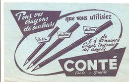 Buvard Conté Pour Vos Crayons De Couleurs Que Vous Utilisiez Conté=Qualité - Papeterie