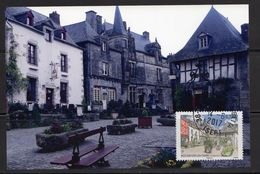 France 2017.Rochefort-En-Terre (Morbihan).Cachet Rond Sur Support Papier Photo 10x15 - France