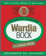 Etiquette Biere Wardia  Bock La Vraie Bière  Houblon Surfin Brasserie De Lewarde 59 - Beer