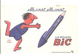 Buvard BIC Elle Court, Elle Court La Ponte BIC - Papeterie