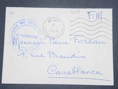 MAROC - Enveloppe En FM De Rabat En 1959  Pour Casablanca - L 8856 - Morocco (1956-...)