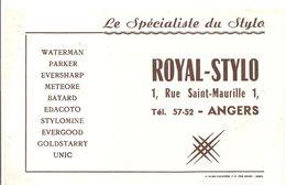 Buvard ROYAL - STYLO 1, Rue Saint Maurille à ANGERS Le Spécialiste Du Stylo - Stationeries (flat Articles)