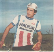 VENDO N.1- POSTER DEL CICLISTA PROFESIONISTA FRANCESCO MOSER DALLE MISURE DIcem15,05X23,05 PERFETTO - Cycling