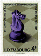 Ref. 97561 * NEW *  - LUXEMBOURG . 1981. 50th ANNIVERSARY OF THE INTERNATIONAL CHESS FEDERATION. 50 ANIVERSARIO DE LA FE - Luxembourg