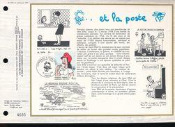 Feuillet  C.E.F. 1er Jour  - 1983 -- France N° 699  --  Jean Effel Et La Poste - FDC