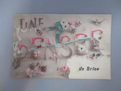 CPA 19 FANTAISIE UNE PENSEE DE BRIVE FLEURS - Brive La Gaillarde
