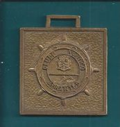 Placa De Bronze Do Clube Nautico De Abrantes. Natação. Basquetebol. - Swimming