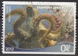 2520 Grecia 2012 Polpo Comune - Octopus Vulgaris  Used Greece Hellas Vita Marina  Imperf. - Greece