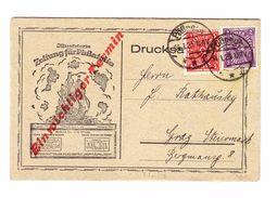 DR 14-01-1923 Pösneck Ilustrierte Philatélie Drucksache 3-teilig Nach Graz - Deutschland
