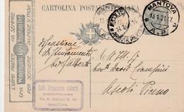 Italie Entier Postal Avec Publicité 1921 - 1900-44 Vittorio Emanuele III