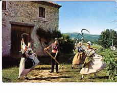 """SOCIETE FOLKLORIQUE DU PAYS VOCONCE, """"La Restanco"""", Vaison La Romaine, La Moisson, Danse Magico-religieuse, Serpette - Danses"""
