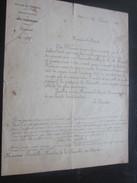 Marseille Central Le Receveur 2 Fev 1878 Document Officiel Direction Générale Des Postes Coup De Piston Député Lesbos - Documents Historiques