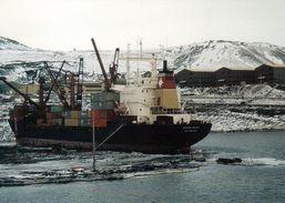 """1 AK Antarctica Antarktis * Station McMurdo Der USA - Ross Island - MV """"Green Wave"""" - Ansichtskarten"""