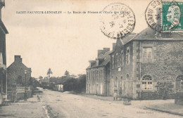 50 // SAINT SAUVEUR LENDELIN    La Route De Périers Et L'école Des Filles - France