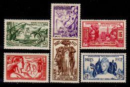 India-Francese-0002 - 1937: Esposizione Internazionale Di Parigi (++) MNH - Privi Di Difetti Occulti. - India (1892-1954)