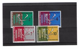 EDY281 - RWANDA , Quattro Valori Diversi  ***  MNH  FAME - Rwanda