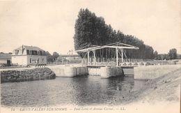 ¤¤  -    74   -  SAINT-VALERY-sur-SOMME   -  Pont-Levis Et Avenue Carnot   -  Café Des Ecluses  -  ¤¤ - Saint Valery Sur Somme