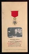 DEJEUNER AMICAL OFFERT A. M.MARCEAU PLUMECOCQ 1947 - CHEVALIER DE LA LEGION D'HONNEUR - 2 SCANS - Menus