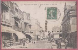 14 - VILLERS SUR MER--Route De Dives--Commerce Felix Potin--Café--animé - Villers Sur Mer