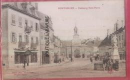 25 - PONTARLIER--Faubourg Saint Pierre--animé - Pontarlier