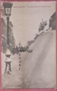25 - PONTARLIER--La Grande Rue Sous La Neige (31 Janvier 1907 )--animé - Pontarlier