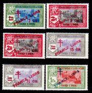 "India-Francese-0014 - Emissione 1941-1943 Soprastampati ""FRANCE LIBRE"" (++) MNH - Privi Di Difetti Occulti. - India (1892-1954)"