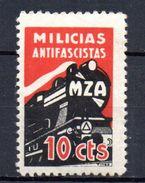Viñeta De Madrid. Nº 48  Ferrocarriles. - Spanish Civil War Labels