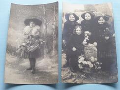 Familiefoto's - Periode W.O.1 - STEENBERGEN +/- 1915 ( IVM Fam. Naegels > Renkin Borgerhout Anvers ) Bonne Année ! - Pays-Bas