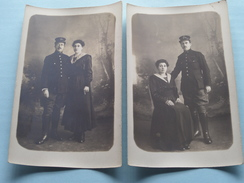 Familiefoto's - Periode W.O.1 - STEENBERGEN +/- 1915 ( IVM Fam. Naegels > Renkin Borgerhout Anvers ) Alphonse Militair ! - Pays-Bas