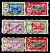 "India-Francese-0027 - Emissione 1941-1943 Soprastampati ""FRANCE LIBRE"" (++) MNH - Privi Di Difetti Occulti. - India (1892-1954)"