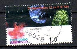 ALLEMAGNE. N°1962 De 2000 Oblitéré. Expo'2000. - 2000 – Hanover (Germany)