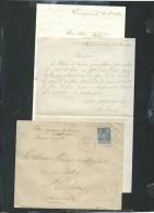 Lac De  Watten  ( Nord )  Affranchie Par Yvert N° 89 En 1884 Contenant 2 Missives - Ax114 - Postmark Collection (Covers)