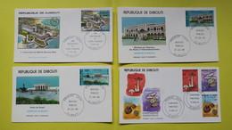 FDC   République De Djibouti, Hôtel Sheraton, Edifices Publiques, Champignons Comestibles 1986/1987 - Djibouti (1977-...)
