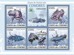 COMORES 2009 SHEET LATIMERIA CHALUMNAE COELACANTH COELACANTHE FISHES POISSONS PEIXES PECES VIE MARINE LIFE Cm9409a - Comoros