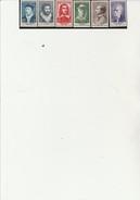 SERIE CELEBRITES 1956 - N° 1066 A 1071  NEUF XX COTE : 51 € - France